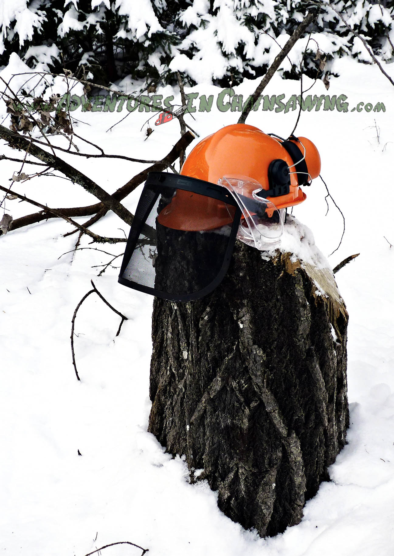 The Helmet System 25 NRR for chainsaw safety