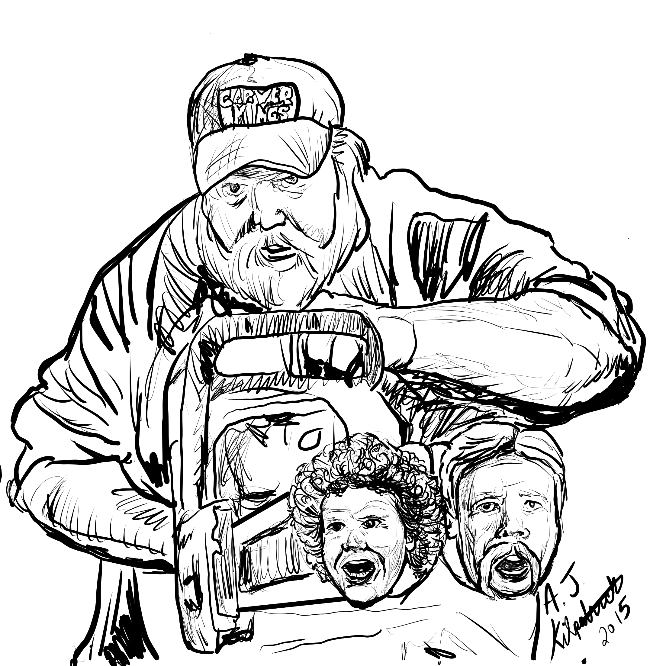 Carver Kings Pete Ryan, Paul Frenette, and Ryan Cook illustration