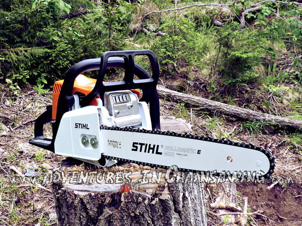 Another great photo of a Stihl MS 170 by the world's best chainsaw blog