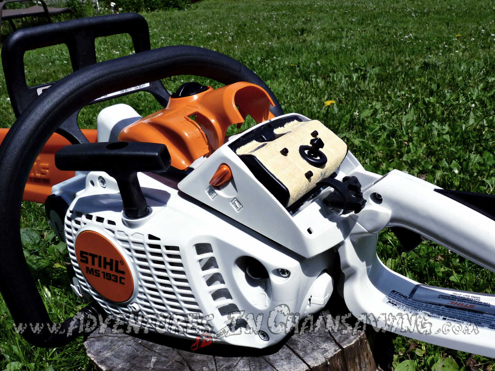 Review pic of Stihl MS 193 C-E from the best chainsaw blog